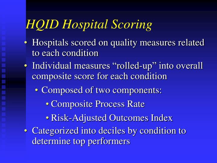 HQID Hospital Scoring