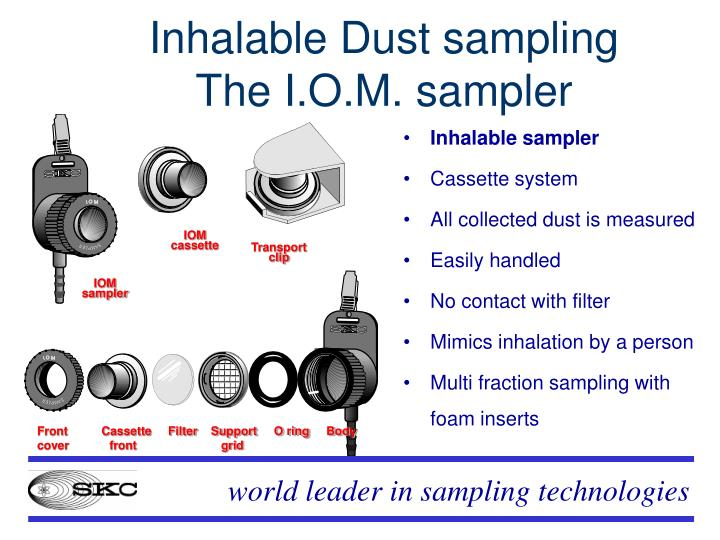 Inhalable Dust sampling