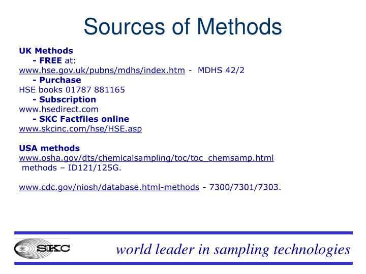Sources of Methods