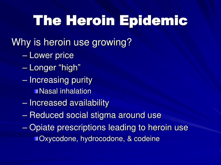 Why is heroin use growing?