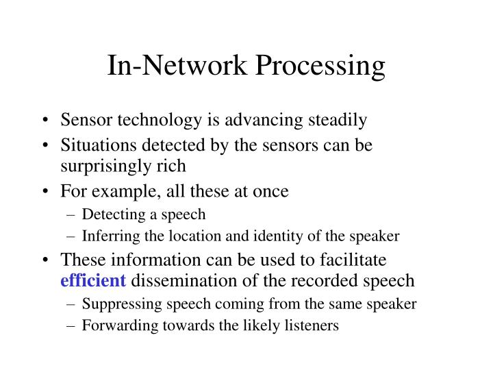 In-Network Processing