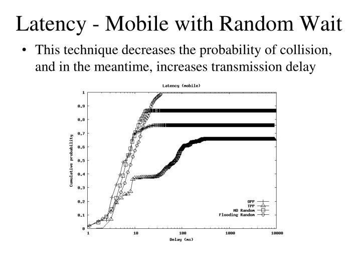Latency - Mobile with Random Wait