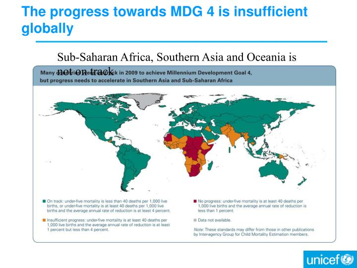 The progress towards mdg 4 is insufficient globally