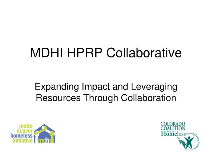 mdhi hprp collaborative