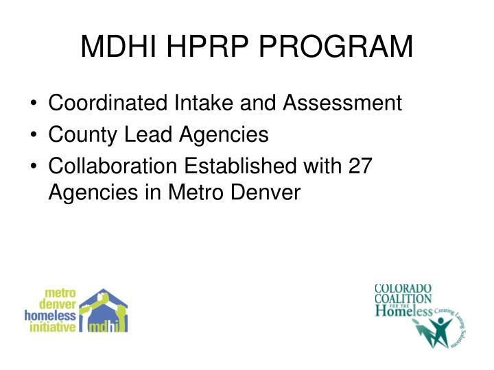 MDHI HPRP PROGRAM