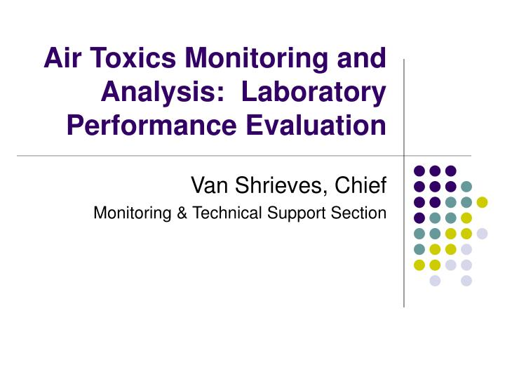 Air toxics monitoring and analysis laboratory performance evaluation