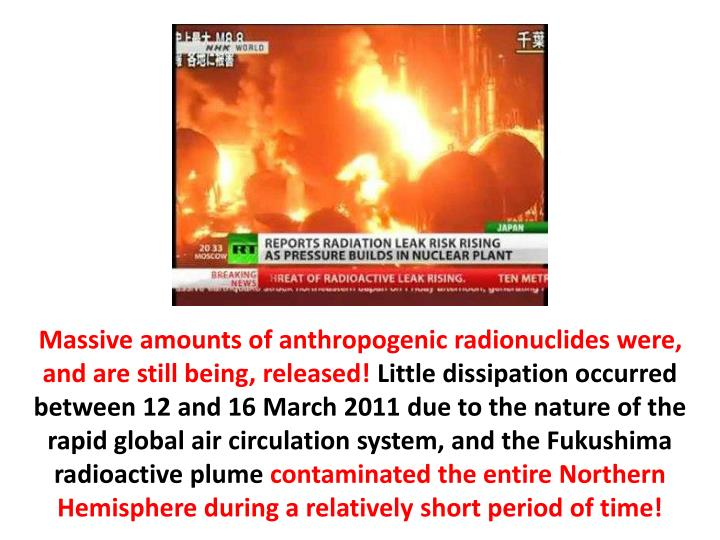 Massive amounts of anthropogenic radionuclides were, and are still being, released!