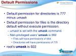 default permissions