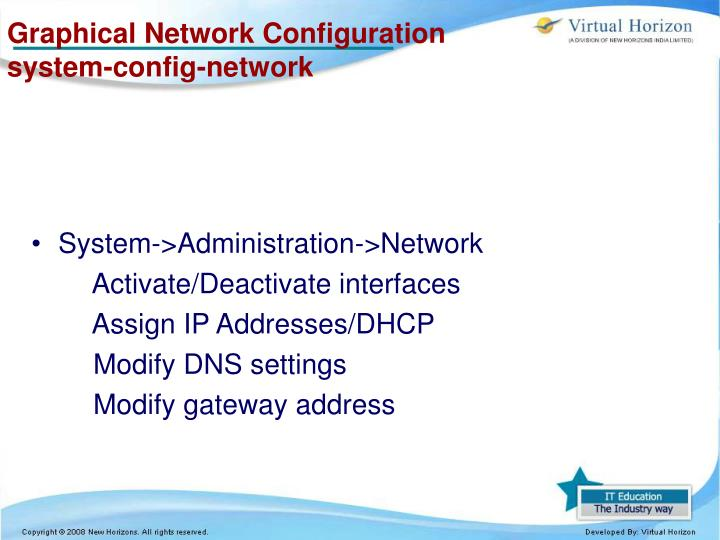 Graphical Network Configuration