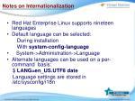 notes on internationalization