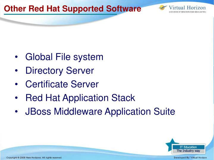 Other red hat supported software