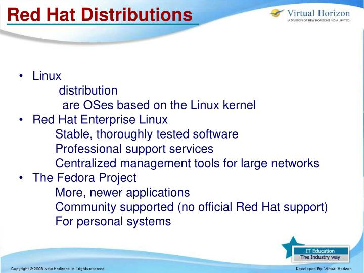 Red Hat Distributions
