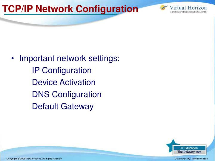 TCP/IP Network Configuration
