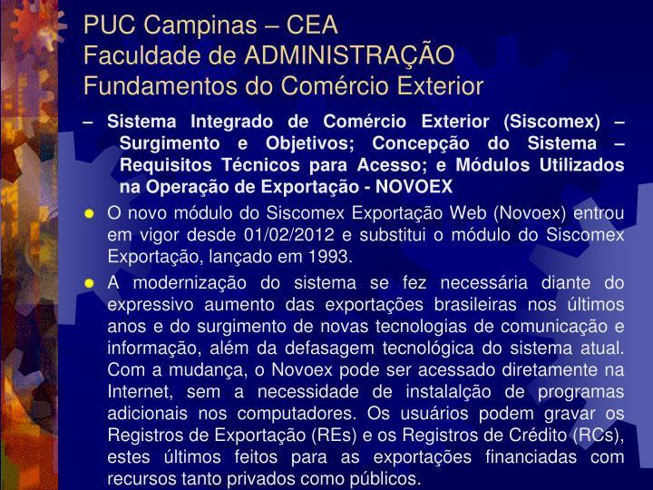 PUC Campinas – CEA