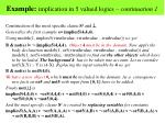 example implication in 5 valued logics continuation 1