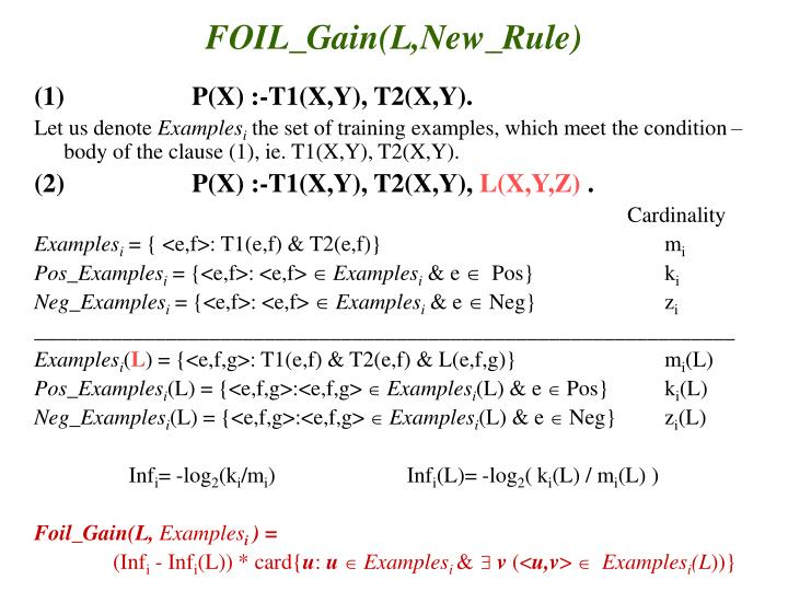 FOIL_Gain(L,New_Rule)