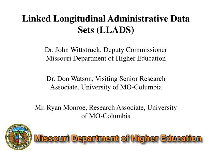 linked longitudinal administrative data sets llads