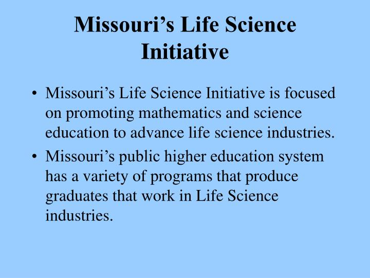 Missouri's Life Science