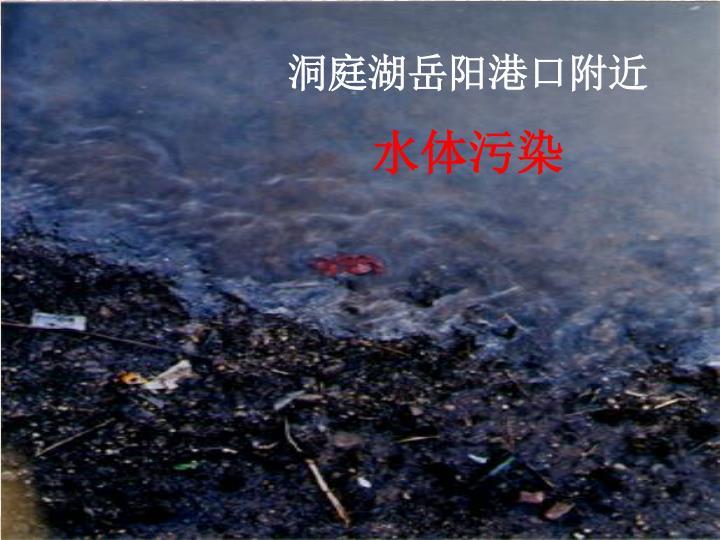 洞庭湖岳阳港口附近