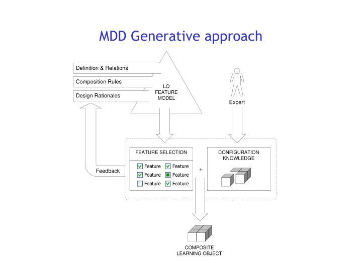 MDD Generative approach