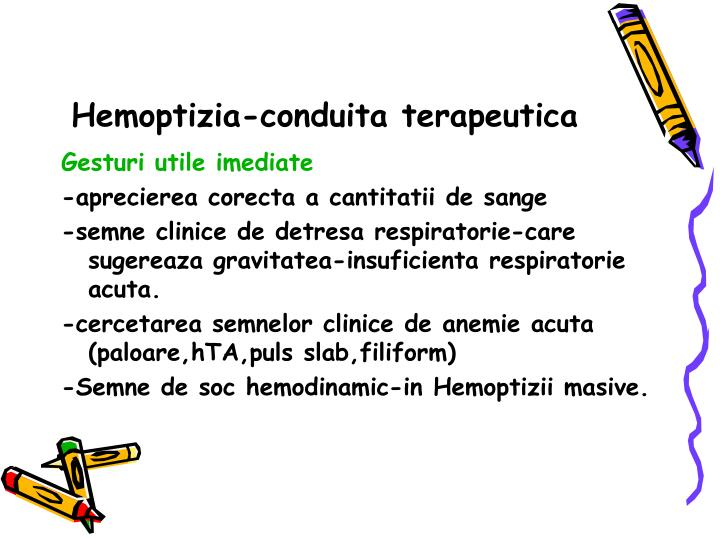 Hemoptizia-conduita terapeutica