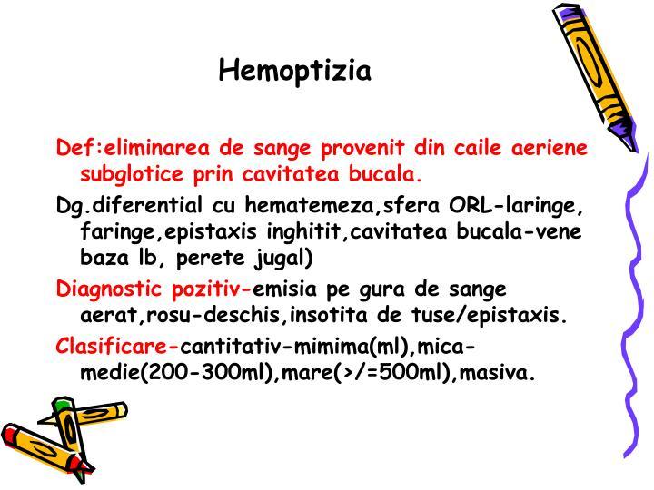 Hemoptizia