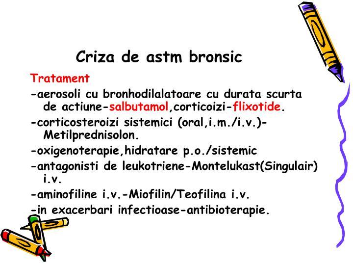 Criza de astm bronsic