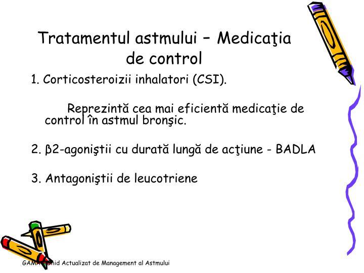 Tratamentul astmului