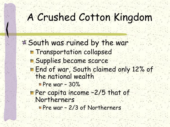 A Crushed Cotton Kingdom