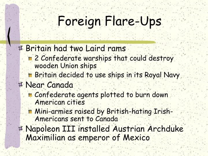 Foreign Flare-Ups