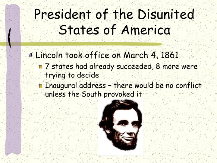 President of the Disunited States of America