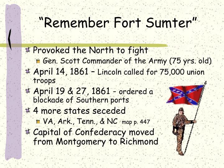 """""""Remember Fort Sumter"""""""