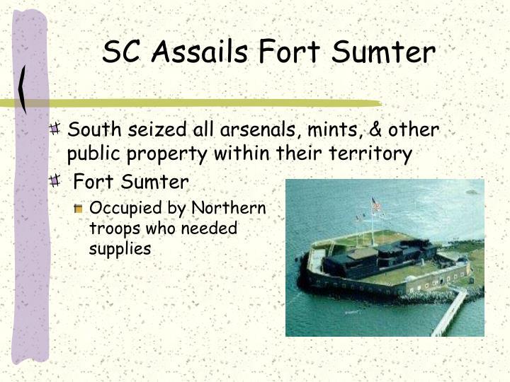 SC Assails Fort Sumter