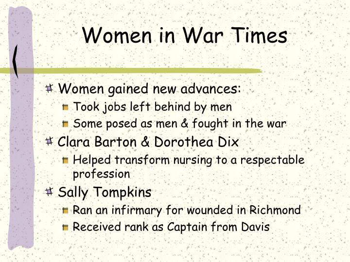 Women in War Times