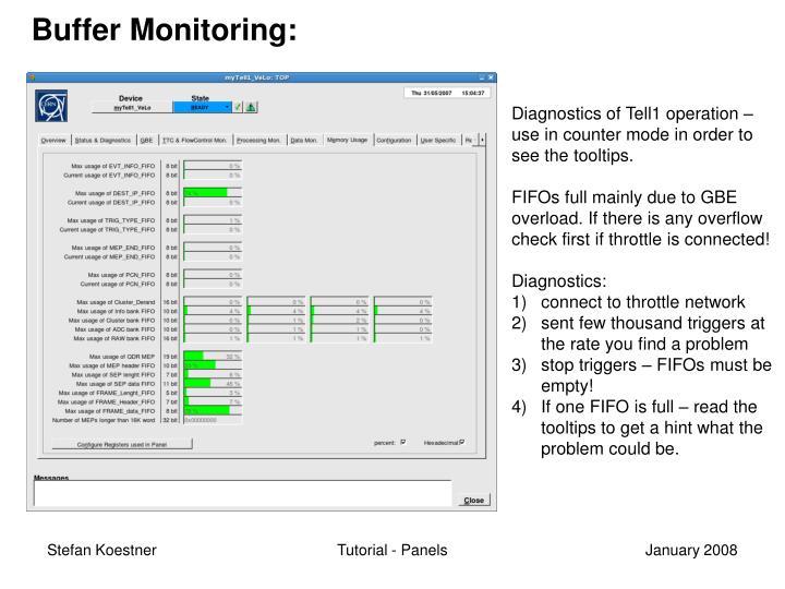 Buffer Monitoring: