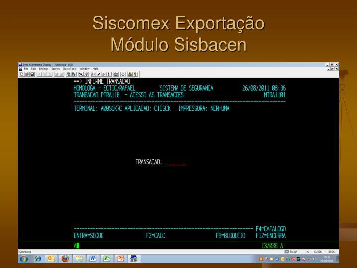 Siscomex Exportação