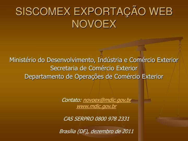SISCOMEX EXPORTAÇÃO WEB