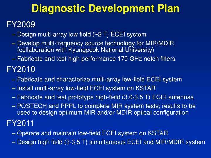 Diagnostic Development Plan