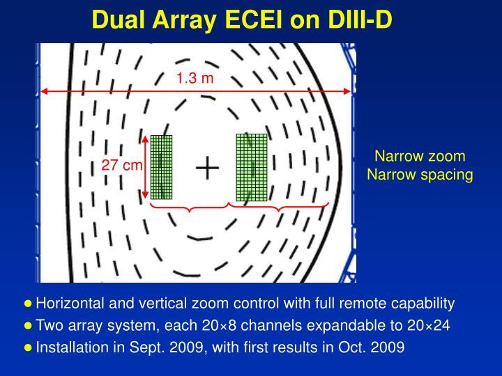 Dual Array ECEI on DIII-D