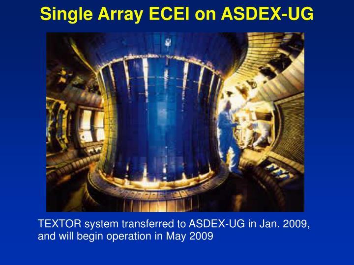 Single Array ECEI on ASDEX-UG
