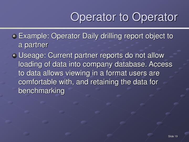 Operator to Operator