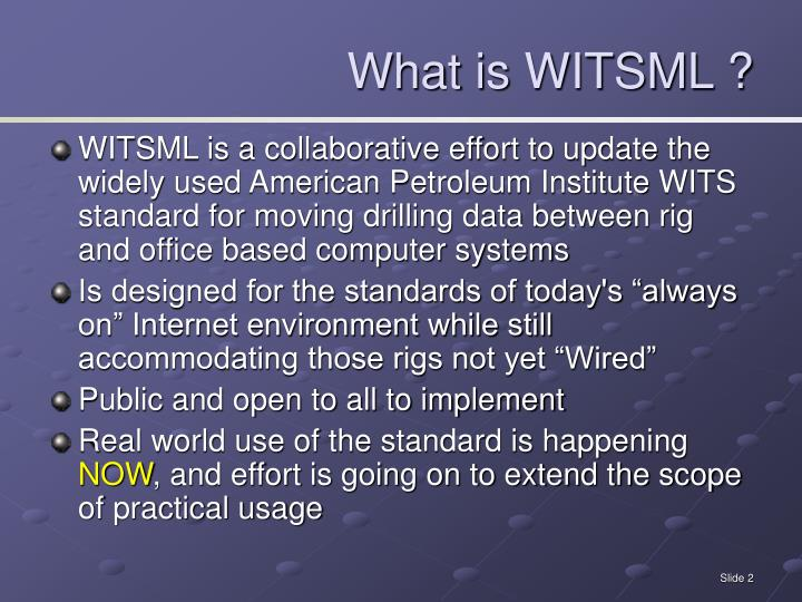 What is WITSML ?