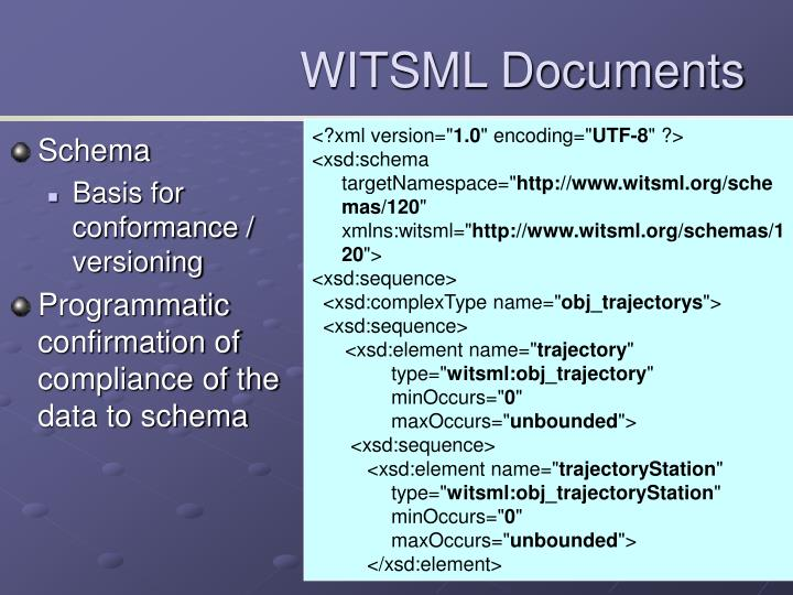 WITSML Documents