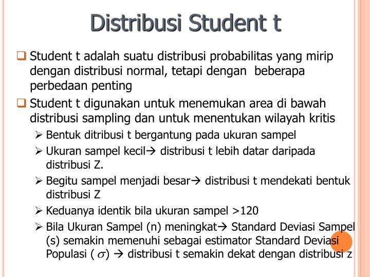 Distribusi Student t