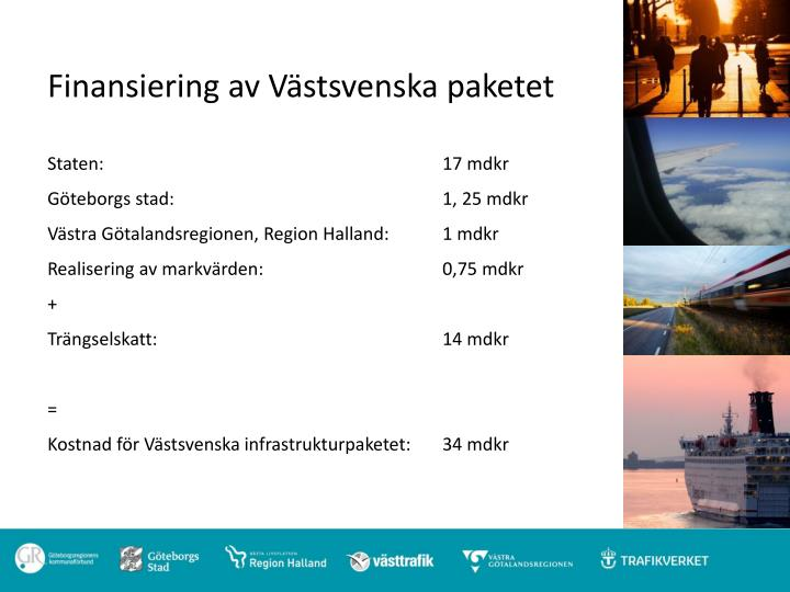 Finansiering av Västsvenska paketet