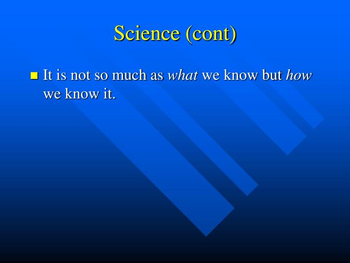 Science cont