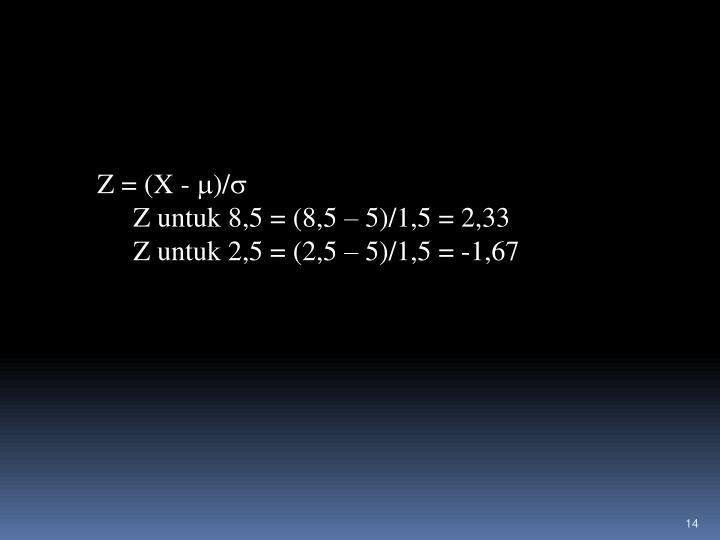 Z = (X -