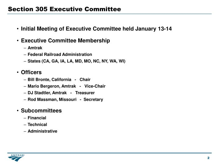 Section 305 Executive Committee