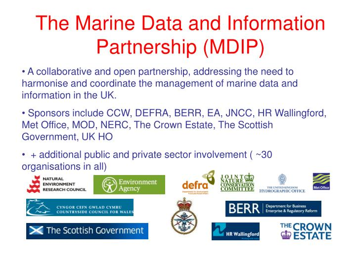 The Marine Data and Information Partnership (MDIP)
