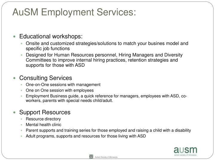 AuSM Employment Services: